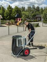 Reinigungswagen, 1200x820x1000 mm, 150 kg Tragfähigkeit, Verzinkt, luftbereift