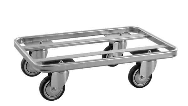 ESD-Rollwagen, 600x400x160 mm, 300 kg Tragfähigkeit, Verzinkt