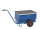 Werkzeugwagen, Baustellenwagen, 940x620x610 mm, 250 kg Tragfähigkeit, mit unplattbaren Rädern, Blau