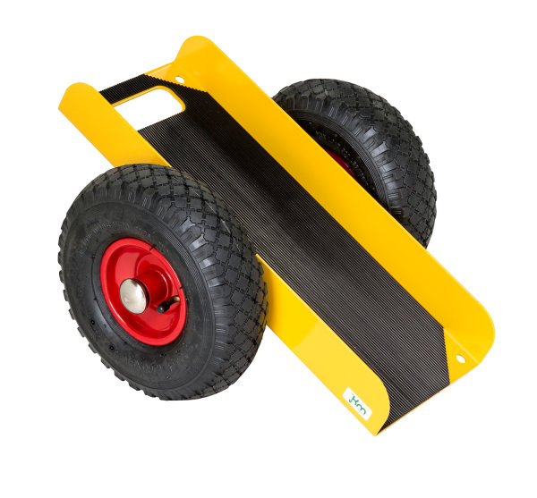 Plattenwagen, 490x380x260 mm, 200 kg Tragfähigkeit, Gelb, luftbereift