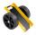 Plattenwagen, 490x380x260 mm, 200 kg Tragfähigkeit, Gelb / Schwarz