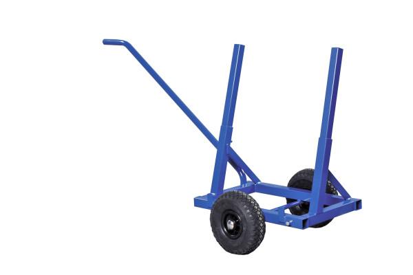 Plattenwagen, 1600x600x800 mm, 200 kg Tragfähigkeit, Blau, luftbereift