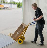Gepäck- & Sackkarre, 780x560x1320 mm, 250 kg Tragfähigkeit, Gelb, luftbereift