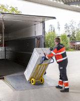 Gepäck- & Sackkarre, 780x560x1320 mm, 250 kg Tragfähigkeit, Gelb