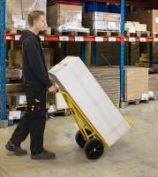 Gepäck- & Sackkarre, 800x560x1125 mm, 250 kg Tragfähigkeit, Gelb