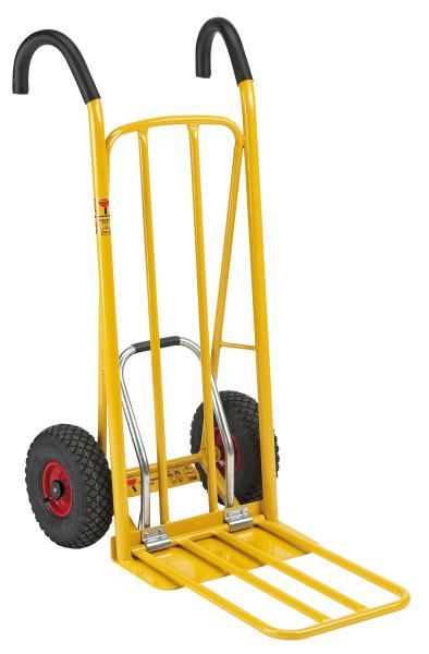 Gepäck- & Sackkarre, 810x500x1140 mm, 250 kg Tragfähigkeit, Gelb, luftbereift