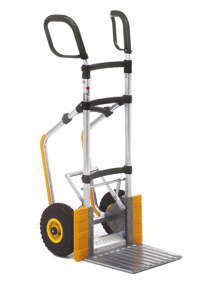 Gepäck- & Sackkarre, 590x480x1175 mm, 250 kg Tragfähigkeit, Grau / Gelb