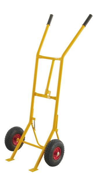 Fasssackkarre, 620x655x1580 mm, 200 kg Tragfähigkeit, Gelb, luftbereift