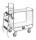 Serie 8000 Transportwagen, Etagenwagen, 2 Ebenen, 1000 x 425 mm, 250 kg Tragfähigkeit, Verzinkt / Weiß, ohne Bremsen
