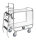 Serie 8000 Transportwagen, Etagenwagen, 2 Ebenen, 1200 x 425 mm, 250 kg Tragfähigkeit, Verzinkt / Weiß, ohne Bremsen
