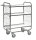 Serie 8000 Transportwagen, Etagenwagen, 3 Ebenen, 750 x 425 mm, 250 kg Tragfähigkeit, Verzinkt / Weiß, mit Bremsen