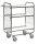 Serie 8000 Transportwagen, Etagenwagen, 3 Ebenen, 620 x 425 mm, 250 kg Tragfähigkeit, Verzinkt / Weiß, mit Bremsen