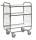 Serie 8000 Transportwagen, Etagenwagen, 3 Ebenen, 1200 x 425 mm, 250 kg Tragfähigkeit, Verzinkt / Weiß, mit Bremsen
