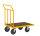 Plattformwagen, 700 x 454 mm, 400 kg Tragfähigkeit, Gelb, ohne Bremsen