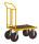 Plattformwagen, 700 x 454 mm, 400 kg Tragfähigkeit, Gelb, luftbereift