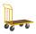 Plattformwagen, 950 x 554 mm, 400 kg Tragfähigkeit, Gelb, mit Bremsen