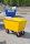 Abfallwagen 200 l, 1220x580x820 mm, 400 kg Tragfähigkeit, Gelb, luftbereift