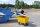 Abfallwagen 400 l, 1390x740x920 mm, 400 kg Tragfähigkeit, Gelb, luftbereift