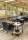 Transportwagen mit 2 Böden, voll verschweißter, 2 Ebenen, 840x430x970 mm, 150 kg Tragfähigkeit, Schwarz / Buchenholz, ohne Bremsen