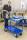 Etagenwagen mit 2 Böden, vollständig geschweißt, 2 Ebenen, 1070x550x1000 mm, 400 kg Tragfähigkeit, Blau, mit Bremsen