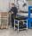 Tischwagen, 2 Ebenen, 625 x 414 mm, 150 kg Tragfähigkeit, Weiß, mit Bremsen