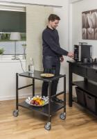 Tischwagen, 2 Ebenen, 625 x 414 mm, 150 kg Tragfähigkeit, Verzinkt, mit Bremsen