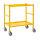 Tischwagen, 2 Ebenen, 625 x 414 mm, 150 kg Tragfähigkeit, Gelb, mit Bremsen