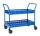 Tischwagen mit Rand, 2 Ebenen, 935 x 535 mm, 250 kg Tragfähigkeit, Blau, ohne Bremsen