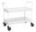 Tischwagen mit Rand, 2 Ebenen, 935 x 535 mm, 250 kg Tragfähigkeit, Weiß, ohne Bremsen