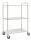 Leichter Etagenwagen, 3 Ebenen, 900 x 540 mm, 250 kg Tragfähigkeit, Verzinkt, ohne Bremsen