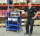 Leichter Etagenwagen, 5 Ebenen, 900 x 540 mm, 250 kg Tragfähigkeit, Blau, ohne Bremsen