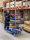 Leichter Etagenwagen, 4 Ebenen, 900 x 540 mm, 250 kg Tragfähigkeit, Blau, ohne Bremsen