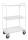 Etagenwagen mit 3 Böden, vollständig geschweißt, 3 Ebenen, 955x550x1490 mm, 400 kg Tragfähigkeit, Weiß, ohne Bremsen