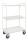 Etagenwagen mit 3 Böden, vollständig geschweißt, 3 Ebenen, 955x550x1490 mm, 400 kg Tragfähigkeit, Weiß, mit Bremsen
