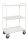 Etagenwagen mit 3 Böden, vollständig geschweißt, 3 Ebenen, 955x550x1490 mm, 400 kg Tragfähigkeit, Verzinkt, ohne Bremsen