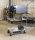 Etagenwagen mit 3 Böden, vollständig geschweißt, 3 Ebenen, 1070x550x1000 mm, 400 kg Tragfähigkeit, Weiß, mit Bremsen