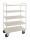 Etagenwagen mit 5 Böden, vollständig geschweißt, 5 Ebenen, 955x550x1470 mm, 400 kg Tragfähigkeit, Weiß, ohne Bremsen