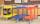 Farbiger Wagen mit 2 Böden, 2 Ebenen, 900 x 440 mm, 250 kg Tragfähigkeit, Blau, ohne Bremsen