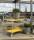Farbiger Wagen mit 2 Böden, 2 Ebenen, 900 x 440 mm, 250 kg Tragfähigkeit, Gelb, mit Bremsen