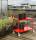 Farbiger Wagen mit 3 Böden, 3 Ebenen, 900 x 440 mm, 250 kg Tragfähigkeit, Rot, ohne Bremsen