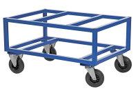 Palettenwagen, 1200x800x650 mm, 800 kg Tragfähigkeit, Blau, ohne Bremsen