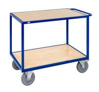 Tischwagen, 2 Ebenen, 1080 x 680 mm, 1200 kg Tragfähigkeit, Blau