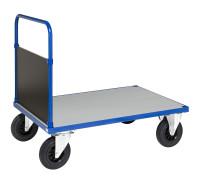 Plattformwagen, 1 Ebenen, 1200x800x900 mm, 500 kg Tragfähigkeit, Blau / Verzinkt, ohne Bremsen