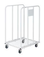 Rollcontainer 2 Seiten, 530x630x1000 mm, 150 kg Tragfähigkeit, Weiß