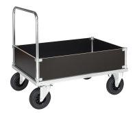 Kofferwagen, 930 x 630 mm, 500 kg Tragfähigkeit, Verzinkt, ohne Bremsen