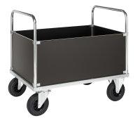 Kofferwagen, 1130 x 830 mm, 500 kg Tragfähigkeit, Verzinkt, mit Bremsen