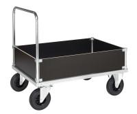 Kofferwagen, 1130 x 830 mm, 500 kg Tragfähigkeit, Verzinkt, ohne Bremsen