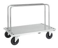 Plattenwagen, 1 Ebenen, 1250x700x945 mm, 500 kg Tragfähigkeit, Verzinkt, ohne Bremsen