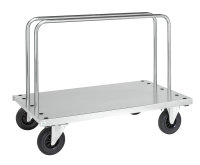 Plattenwagen, 1 Ebenen, 1250x700x945 mm, 500 kg Tragfähigkeit, Verzinkt, mit Bremsen
