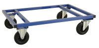 Palettenwagen 1200x100, 1200x1000x305 mm, 800 kg Tragfähigkeit, Blau, mit Bremsen
